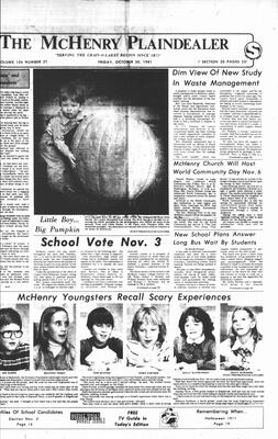 McHenry Plaindealer (McHenry, IL), 30 Oct 1981