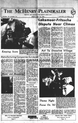 McHenry Plaindealer (McHenry, IL), 16 Jul 1982