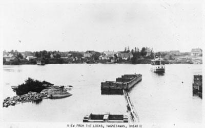 View from the Locks, Magnetawan, circa 1920