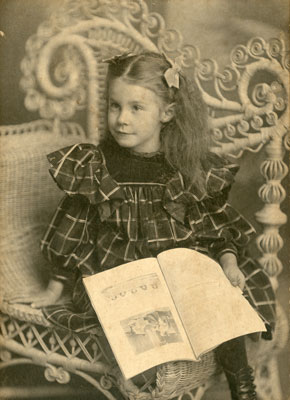 Annie Zella Arthurs in a Wicker Chair, 1898
