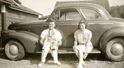 Howard and Laura Stewart with Baby, circa 1940