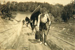 Using a Log Chute as a Portage, 1920