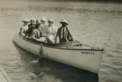 Dr. Cullen and Friends in the Rebecca, 1922