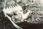 Older Gentleman Laying in a Hammock, circa 1930