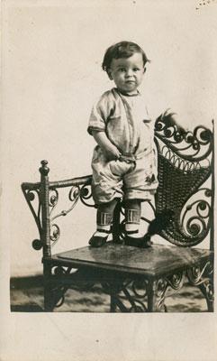 George Nelson on a Chair, circa 1862