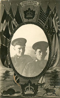 Portrait of Soldiers Edwin Nelson and Unknown Freeborn, 1918