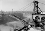 Construction of the Rainbow Bridge - American Falls in background