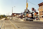 Clifton Hill at Victoria Avenue, Canadian Imperial Bank of Commerce at right