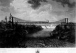 Great Railway Suspension Bridge from a painting by Ferdinand Richardt
