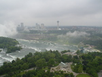 Aerial View of Niagara Falls, Ontario, and Prospect Point Park