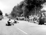 4th annual Optimist Club Soap Box Derby 1961 racing down Drummond Hill