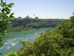Niagara Gorge, Lower Niagara River & Rainbow Bridge - Facing Niagara Falls, New York