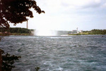 Upper Niagara River near the Brink of the Horseshoe Falls, Skylon Tower in background