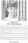 Niagara Falls Sports Wall of Fame - Bill Whittet Athlete Baseball & Hockey era 1900 - 1950