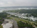 Aerial View of Goat Island, Niagara Falls, New York, and the Upper Niagara River