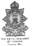 Insignia of the Royal Regiment of Canda - Toronto Ontario