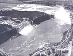 Aerial view of the American and Horseshoe Falls