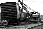 C.N.R. Train Derailment Wreck, Workers Rerailing Cars - Stanley Street & Whirpool Road