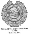 Insignia of the Argyll Light Infantry (Tank) - Belleville Ontario