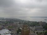 Aerial View of Niagara Falls, New York and the Upper Niagara River
