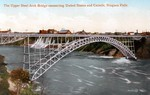 The Upper Steel Arch Bridge connecting United States and Canada, Niagara Falls