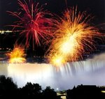 Winter Festival of Lights - Fireworks over Niagara Falls