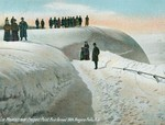 Ice Mountain over Prospect Point. First formed 1904. Niagara Falls, NY