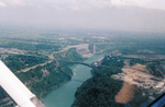 Aerial View of Queenston-Lewiston Bridge, Robert Moses Power Plant, and the Niagara Gorge
