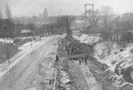 Construction of the Rainbow Bridge - work on the Roberts Street link to the QEW
