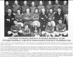 Niagara Falls Sports Wall of Fame - Canadian National Railway CNR Juvenile Baseball Team 1932 - Ontario Baseball Amateur Association Juvenile Champion 1932