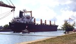 Welland Ship Canal - Port Colborne - Wana Naree from Bangkok upbound to Lake Erie