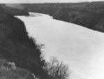 Frozen lower Niagara River below the Whirlpool Rapids