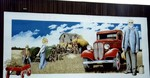 Welland East Main St - mural depicting the old ways of farming