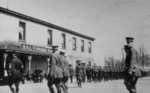 Soldiers assembling outside of the Baltimore Hotel Chippawa