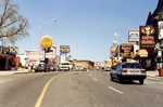 Looking up Clifton Hill toward Victoria Avenue