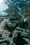 Aerial view of Maple Leaf Village - Maple Leaf Tower, Niagara Power Company at right