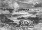 General View of Niagara Falls - Brink of the Horseshoe Falls & the American Falls