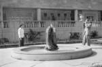 Fish fountain in Oakes Garden Theatre Niagara Falls