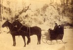 Dufferin Islands - Winter 1890 - George Ellis, Wife and girl