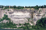 The site of the former Schoellkopf Power Plant in the Niagara Gorge as seen from Canada