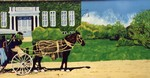 Welland mural depicting horse and carriage in front of Plymouth Cordage Company