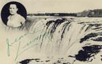 Jean Lussier goes over Niagara Falls