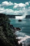 The Maid of the Mist approaching the Horseshoe Falls