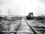 Niagara development railway - locomotive in operation at the forebay