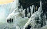 Below the Falls in Winter, Table Rock Tunnel, Queen Victoria Park, Niagara Falls Canada