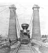 Train on the Railway Suspension Bridge