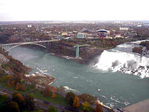 American Falls and the Rainbow Bridge from the Skylon Tower