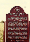 Benjamin Canby Plaque in Canboro Cemetery