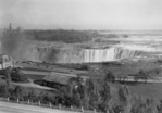 Horseshoe Falls and construction on the American side seen from Portage Road