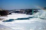Frozen Niagara River, Rainbow Bridge, Prospect Point Observation Tower